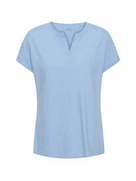 Costamani Raw S/S Tee - Light blue