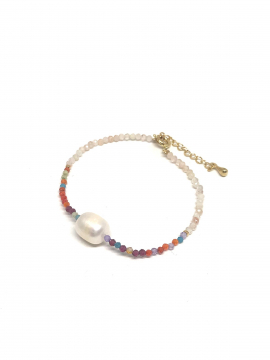 by Bram Bracelet w/freshwather pearl - C.Mix