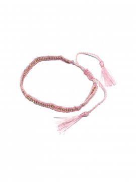 by Bram Pearl tassel bracelet - Light red