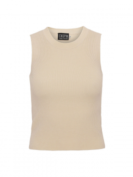 Chopin Beda knit tank top - Beige