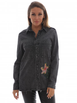 Gila & Feldt Kathey denim shirt - Black