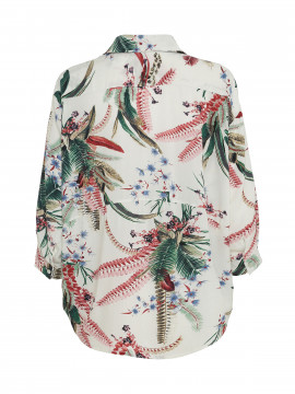 Gila & Feldt Agnes leaves shirt - White