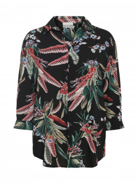 Gila & Feldt Agnes leaves shirt - Black