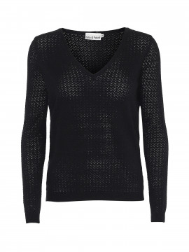 Gila & Feldt Kai V-neck knit - Black