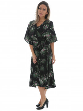 Chopin Sommer wrap dress - Black