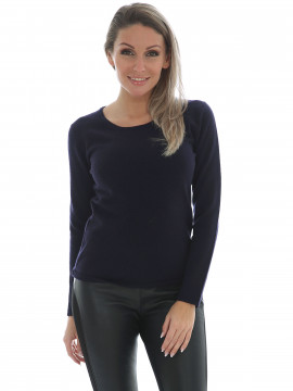 Chopin Dacia cashmere Oneck knit - Navy