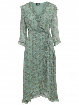 Chopin Silke wrap dress - Green