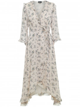 Chopin Silke wrap dress - Powder