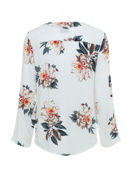 Chopin Sifa big flower shirt - White