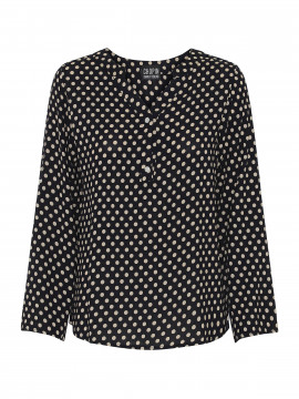 Chopin Jolia dot shirt - Dark navy