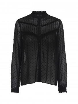 Chopin Jamie see trough shirt - Black