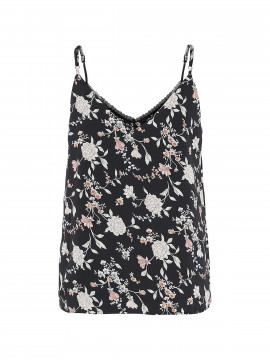 Chopin Jean flower top - Black