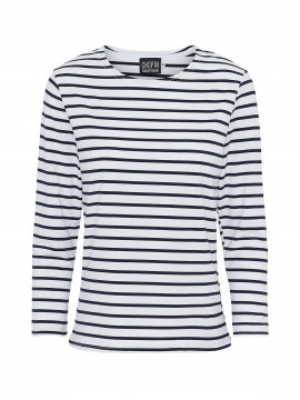 Chopin Kiki stripe tee 3/4 - White