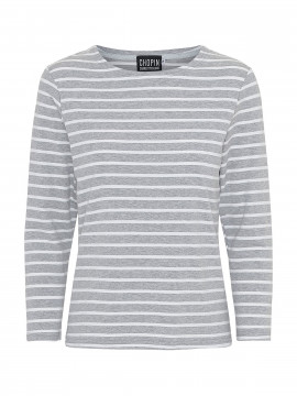 Chopin Kiki stripe tee 3/4 - Grey