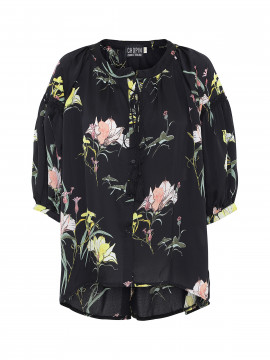 Chopin Kimmie flower shirt - Black