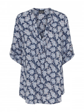 Chopin Katie small flower shirt - Navy