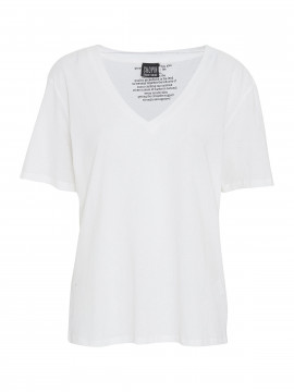 Chopin Kleo basic V-neck tee - Ecru