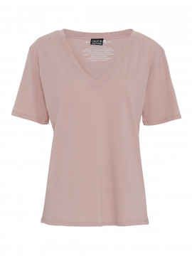 Chopin Kleo basic V-neck tee - Rose
