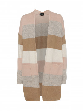 Chopin Freja stripe long cardigan - Rose