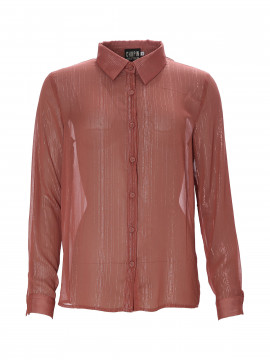 Chopin Fay gold stripe shirt - Winter rose