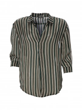Chopin Fia stripe shirt - Green