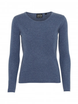Chopin Dacia cashmere O-neck - Denim blue
