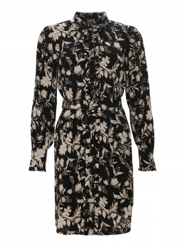 Chopin Philippa flower dress - Black