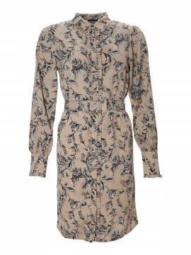 Chopin Philippa flower dress - Sand