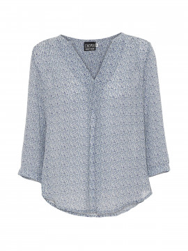 Chopin Pusle small flower top - Blue
