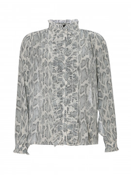 Chopin Pearl snake shirt - Blue/mint