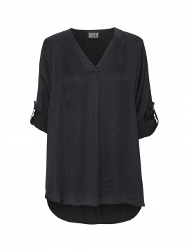 Chopin Nadia silk tunic - Black