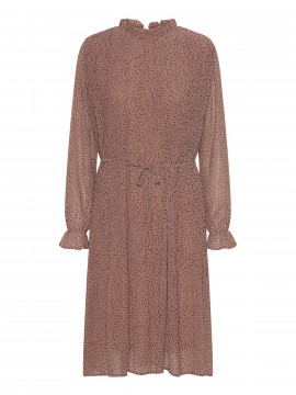 Chopin Agnete dot dress - Cappucino