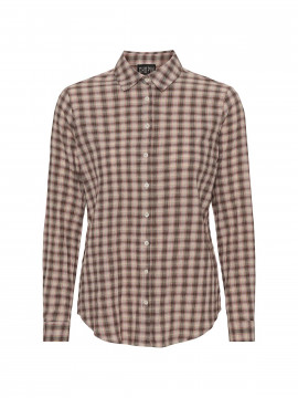 Chopin Anna check shirt - Rose