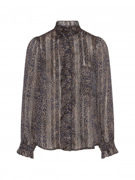 Chopin Nola lace shirt - Navy