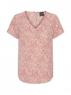 Chopin Annica S/S flower top - Rose