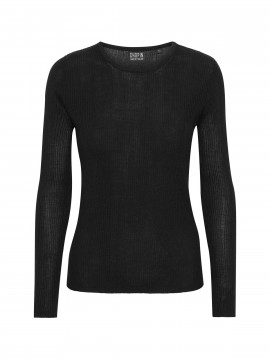 Chopin Angola Silk L/S knit - Black