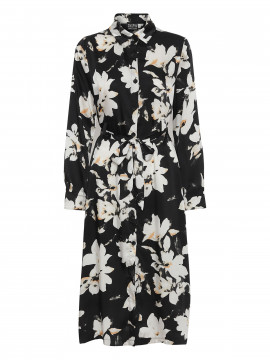 Chopin Bana big flower dress - Black