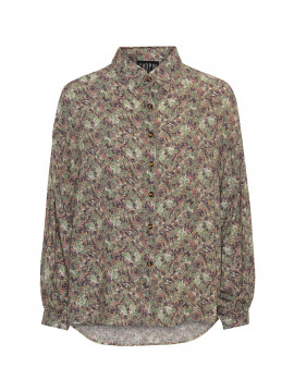 Chopin Bala small flower shirt - Taupe