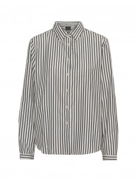 Chopin Base stripe shirt - White/black