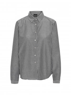 Chopin Base stripe shirt - Grey/white