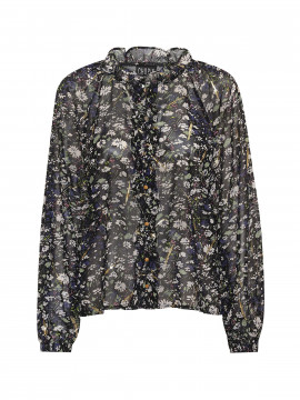Chopin Beatrix flower lace shirt - Black