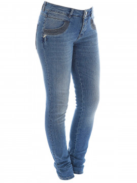 Mos Mosh Naomi shine stitch jeans - Dark blue