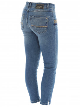 Mos Mosh Naomi shine split 7/8 jeans - Light blue