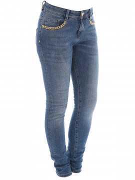 Mos Mosh Bradford chain jeans - Light blue denim