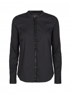 Mos Mosh Maggie shine shirt - Black