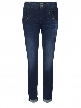 Mos Mosh Naomi shine jeans - Dark blue denim