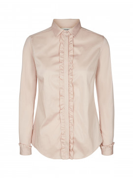 Mos Mosh Tilda Flounce shirt - Light Rose