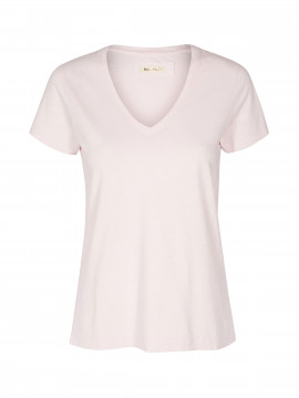 Mos Mosh Arden V-neck tee - Soft rose