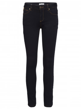 Mos Mosh Victoria 7/8 silk touch jeans - Dark denim blue