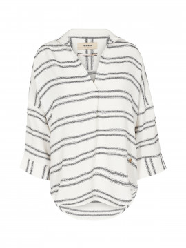 Mos Mosh Nava stripe top - White